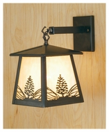 Meyda Tiffany 67278 Stillwater Mountain Pine Antique Copper Finish 9.5  Wide Outdoor Wall Light Fixture