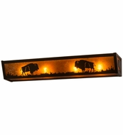 Meyda Tiffany 67746 Buffalo Timeless Bronze/Amber Mica Wall Light Sconce