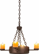 Meyda Tiffany 67972 Kingston Country Matte Copper Vein Hanging Chandelier