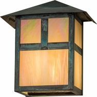 Meyda Tiffany 68076 Seneca  T  Mission Craftsman Bai Verd Outdoor Wall Sconce Lighting