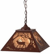 Meyda Tiffany 68576 Elk at Dawn Rust/Silver Mica Hanging Light Fixture