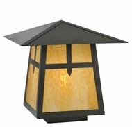 Meyda Tiffany 69282 Stillwater Cross Mission Craftsman Timeless Bronze Finish 30  Wide Exterior Pier Mount