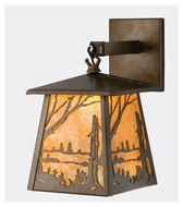 Meyda Tiffany 70680 Stillwater Quiet Pond Antique Copper Finish 12.5  Tall Exterior Wall Sconce Lighting