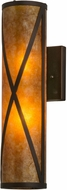 Meyda Tiffany 72363 Diamond Mission Mahogany Bronze / Amber Mica Wall Sconce Lighting