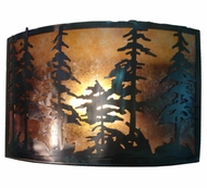 Meyda Tiffany 73870 Tall Pines Antique Copper Finish 18  Wide Wall Mounted Lamp