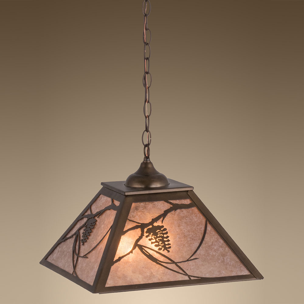 Tiffany Hanging Light Fixtures Country Antique Copper Silver Mica Hanging Light Fixture MEY 76316