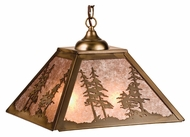 Meyda Tiffany 76318 Tall Pines Antique Copper Finish 33.5  Tall Hanging Pendant Lighting
