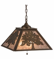 Meyda Tiffany 76319 Oak Tree Antique Copper/Silver Mica Ceiling Light Pendant