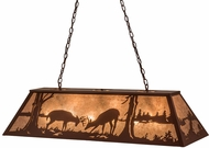 Meyda Tiffany 79726 Battling Bucks Rustic Rust / Silver Mica Kitchen Island Light Fixture