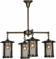 Meyda Tiffany 81057 Fulton Winter Pine Rustic Antique Chandelier Light