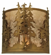 Meyda Tiffany 81261 Tall Pines Antique Copper Finish 12 Tall Wall Light Sconce