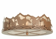 Meyda Tiffany 81504 Wild Horses Rust Finish 6.5  Tall Ceiling Lighting Fixture