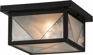 Meyda Tiffany 81625 Harlequin Black / Clear & Frosted Seedy Flush Mount Lighting
