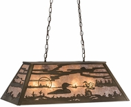 Meyda Tiffany 81771 Loon Rustic Antique Copper / Silver Mica Island Lighting