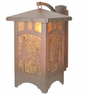 Meyda Tiffany 82623 Tall Pines Rust Finish 25  Tall Wall Sconce Light
