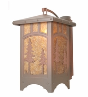 Meyda Tiffany 82624 Tall Pines Rust Finish 23.5  Wide Wall Sconce