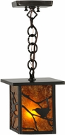Meyda Tiffany 83422 Hyde Park Song Bird Country Amb Mica Craftsman Drop Ceiling Light Fixture