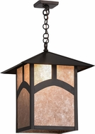 Meyda Tiffany 85482 Seneca Hill Top Craftsman Silv Mica Craftsman Drop Lighting Fixture