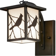 Meyda Tiffany 87906 Hyde Park Song Bird Ca Craftsman Exterior Light Sconce
