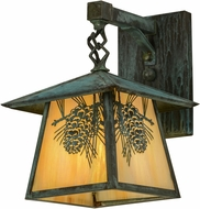 Meyda Tiffany 92840 Stillwater Winter Pine Bai Verd Wall Sconce Lighting