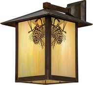 Meyda Tiffany 97209 Seneca Winter Pine Bai Vintage Copper Exterior Wall Light Sconce