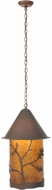 Meyda Tiffany 97926 Oak Leaf & Acorn Rust / Wrought Iron Amber Mica Mini Ceiling Light Pendant