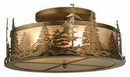 Meyda Tiffany 98918 Tall Pines Antique Copper Finish 22  Wide Flush Lighting