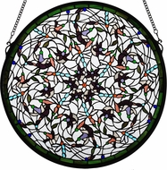 Meyda Tiffany 98951 Tiffany Patina Dragonfly Swirl Medallion Window