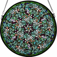 Meyda Tiffany 98956 Tiffany Patina Dragonfly Swirl Medallion Window