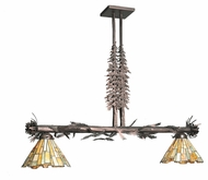 Meyda Tiffany 99008 Jadestone Delta Tall Pines Mahogany Bronze Finish 28.5  Tall Kitchen Island Light