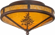 Meyda Tiffany 99148 Tamarack Rust / Wrought Iron / Amber Mica Home Ceiling Lighting