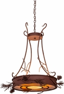 Meyda Tiffany 99449 Woodland Pine Country Rust / Amber Mica Drum Hanging Lamp