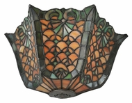 Meyda Tiffany 99583 Duffner & Kimberly Shell & Diamond Tiffany 7.5  Tall Wall Light Sconce