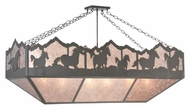 Meyda Tiffany 99638 Wild Horses Timeless Bronze Finish 30  Tall Island Light Fixture