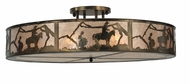 Meyda Tiffany 99865 Cowboy Antique Copper Finish 48  Wide Flush Mount Lighting