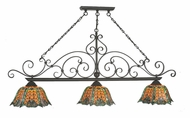 Meyda Tiffany 99901 Duffner & Kimberly Shell & Diamond Tiffany Timeless Bronze Finish 96  Tall Kitchen Island Light Fixture