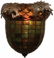 Meyda Tiffany 51851 Greenbriar Oak Rustic Antique Copper Lighting Wall Sconce