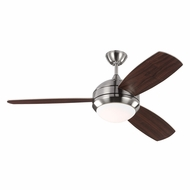 Monte Carlo Fans 3DIR52BSD Discus Trio Brushed Steel LED Interior/Exterior 52  Ceiling Fan