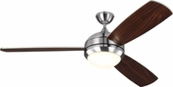 Monte Carlo Fans 3DIR58BSD Discus Trio Max Brushed Steel LED 58 Home Ceiling Fan