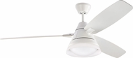 Monte Carlo Fans 3NDR54RZWD Nord Contemporary Rubberized White LED 54  Home Ceiling Fan