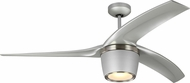 Monte Carlo Fans 3SKYR56GRYD Skylon Contemporary Grey LED 56  Home Ceiling Fan
