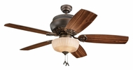 Monte Carlo Fans 5AN52RBD-L Albany Roman Bronze 52 Inch Wide Traditional Ceiling Fan