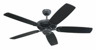Monte Carlo Fans 5CO52BK Colony Matte Black 52 Inch Wide Home Ceiling Fan