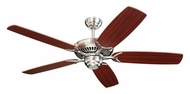 Monte Carlo Fans 5CO52BS Colony Brushed Steel 52 Inch Wide Ceiling Fan