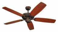 Monte Carlo Fans 5CO52RB Colony Roman Bronze 52 Inch Wide Home Ceiling Fan