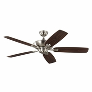 Monte Carlo Fans 5COM52BS Colony Max Brushed Steel Interior/Exterior 52 Ceiling Fan