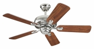 Monte Carlo Fans 5CQ44PN Centro II Polished Nickel 44 Inch Wide Home Ceiling Fan