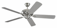Monte Carlo Fans 5CQ52BS Centro Brushed Steel 52 Inch Wide Ceiling Fan