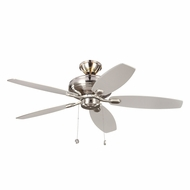 Monte Carlo Fans 5CQM52BS-L Centro Max Uplight Brushed Steel 52 Ceiling Fan