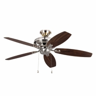 Monte Carlo Fans 5CQM52PN-L Centro Max Uplight Polished Nickel 52 Home Ceiling Fan
